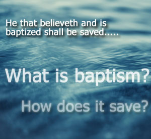 Baptism is a work of repentance.