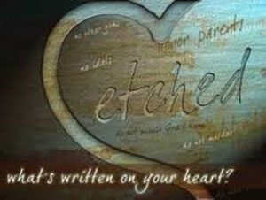 What is written on your heart