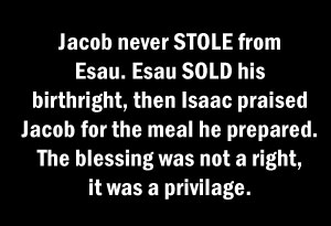 Jacob steals the birthright